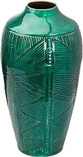Hill 1975 Aztec collectie messing reliëf keramische gedimde Urn vaas, metaal, gemengd, één maat
