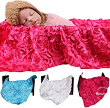 BabyMoon Backdrop Knit Throw Blanket Rug New Born Photography Shoot Props Costumes (Pink)