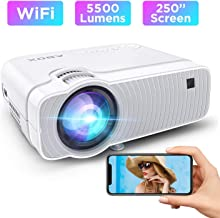 WiFi Ultra Mini Portable TV Projector for Outdoor Movies,...