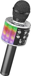 Ankuka Bluetooth karaokemicrofoon, draadloze microfoon met ingebouwde luidsprekers, handheld karaokemicrofoon voor zang en...