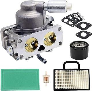 791230 Carburetor with Gasket Air Filter Kit Replacement for Briggs & Stratton 796227 499809 699709 699804 V-Twin 4 Cycle 20HP 21HP 23HP 24HP 25HP Engine John Deere LA120 LA130 LA135 LA140 LA145