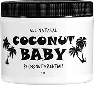 Coconut Baby Oil Organic Moisturizer - for Hair and Skin - Cradle Cap Treatment, Eczema, Psoriasis - Massage, Sensitive Sk...