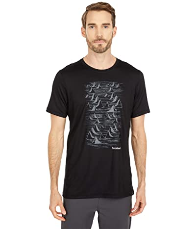 Smartwool Merino Sport 150 Bryan Iguchi Mountains Graphic Tee (Black) Men