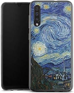 Siliconen Hoesje compatibel met Samsung Galaxy A50 Telefoonhoesje Doorzichtig TPU-case Vincent Van Gogh The Starry Night S...