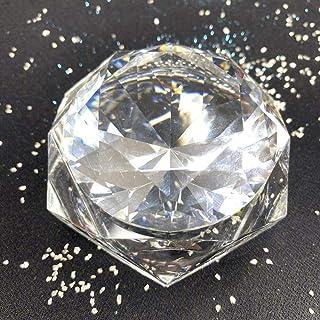 Large Crystal Glass Jar 50ml with Beautiful Stone Diamond Shape