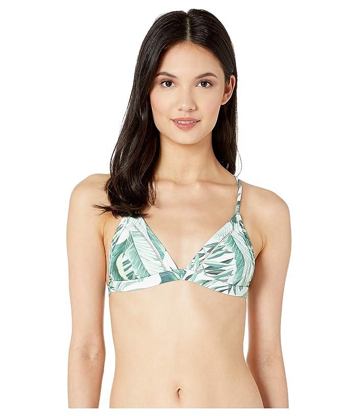 Rip Curl Palm Reader Cross Back Bikini Top (Green) Women