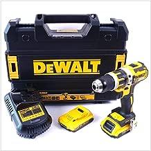DEWALT DCD795D2-QW - Taladro Percutor a bateria sin escobillas XR 18V 13mm 60Nm con 2 baterías Li-Ion 2,0Ah con maletín TSTAK