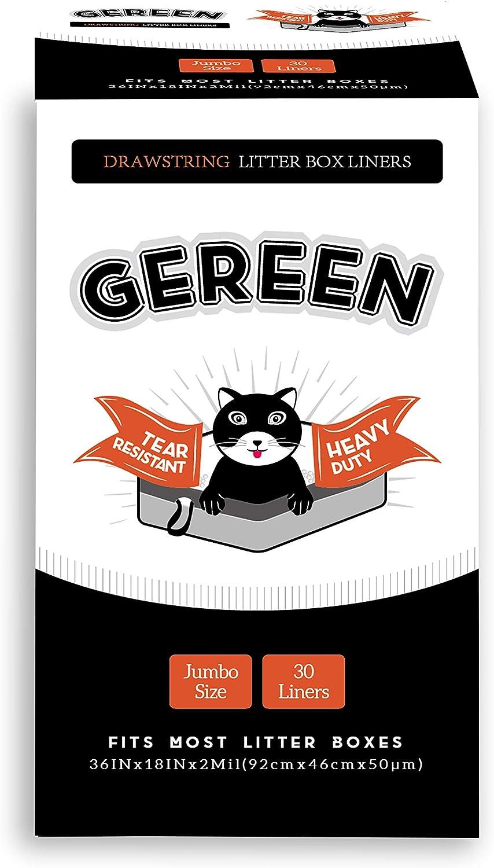 Gereen New Orleans Mall Drawstring Cat Litter Box Liner Jumb Counts Heavy 30 Duty Indefinitely