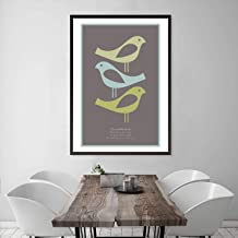 VisualPhilosophy Bob Marley Three Little Birds Poster - Scandinavian Style Three Little Birds Print - Bob Marley Lyrics Poster - Unframed - Bob Marley Gifts for Him and Her - Various Sizes