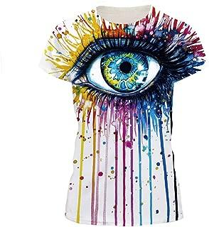 NEWCOSPLAY Novelty Shirts 3D Printed Short Sleeve Colorful T-Shirt Fashion Couple Tees