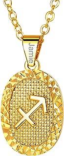 sagittarius constellation necklace gold