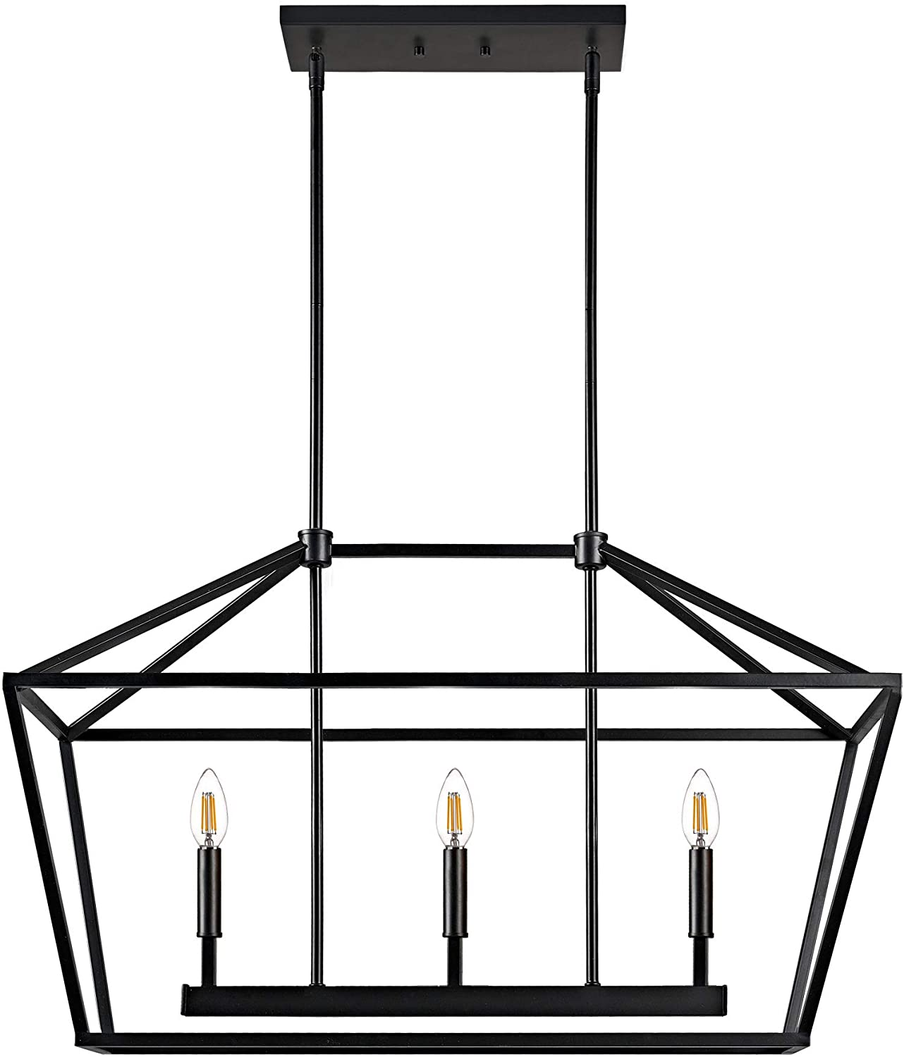 MOTINI Max 50% OFF 70% OFF Outlet 3-Light Kitchen Island Linear Chandelier Pendant Lantern