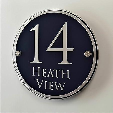 placa personalizable de puerta Esmaltado placa de n/úmero de casa 12/x 14/cm