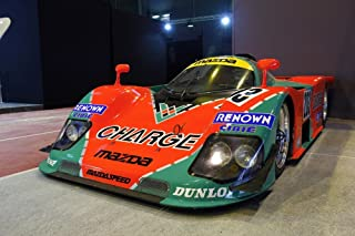 Driver Motorsports Mazda 787B 4 Rotor Le Mans Winner Left Front HD Poster Race Car 48 X 32 Inch Print