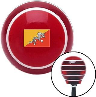 American Shifter 305093 Shift Knob (ASCSNX1625720 Bhutan Red Stripe with M16 x 1.5 Insert)