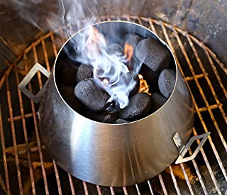 Dracarys BBQ Whirlpool for Kettle Grills Weber 22 26.75 WSM Weber Vortex Charcoal Briquet Holders- Stainless Steel BBQ Kettle Grill Accessories (M)