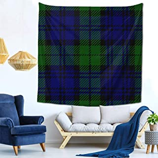 best pillow Black Watch Scottish Tartan Plaid Seamless PatternTapestry Wall Hanging, Wall Tapestry with Art Nature Home Decorations for Living Room Bedroom Dorm Decor