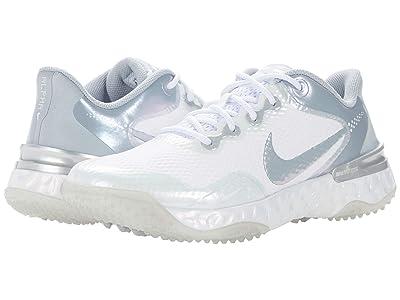 Nike Alpha Huarache ELT 3 Turf (White/Wolf Grey/Pure Platinum) Women
