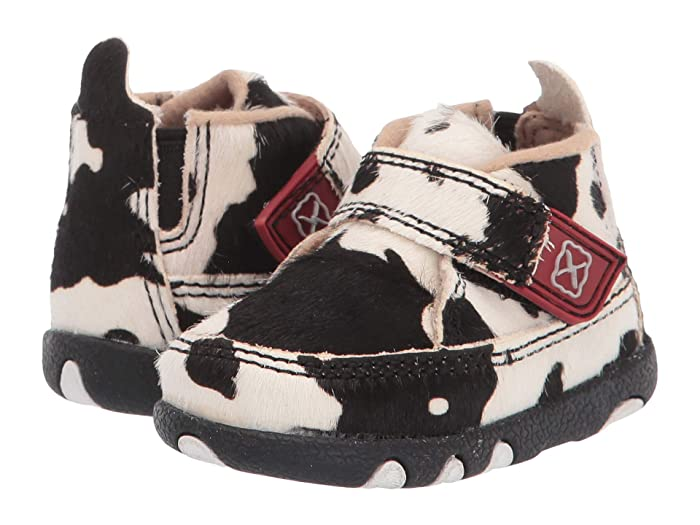 Twisted X  Chukka Driving Moc (Infant/Toddler) (White/Black) Shoes