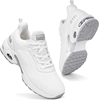 Women Air Athletic Running Shoes - Air Cushion Shoes for Womens Mesh Sneakers Fashion Tennis Breathable Walking Gym Work Shoes