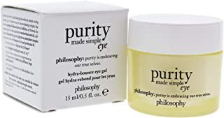 Philosophy Purity Made Simple Eye Gel for Unisex, 0.5 Ounce