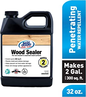 Rain Guard Water Sealers SP-8002 Wood Sealer Concentrate Covers up to 400 Sq. Ft. 1 Quart Makes 2 gallons