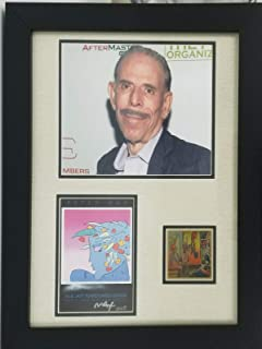 Artist Peter Max Hand Signed 5x7 Color Card Famed Display W/Todd Mueller COA