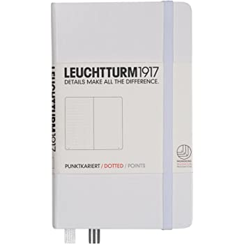 Leuchtturm1917 Classic Hardcover Dotted Pocket Notebook White