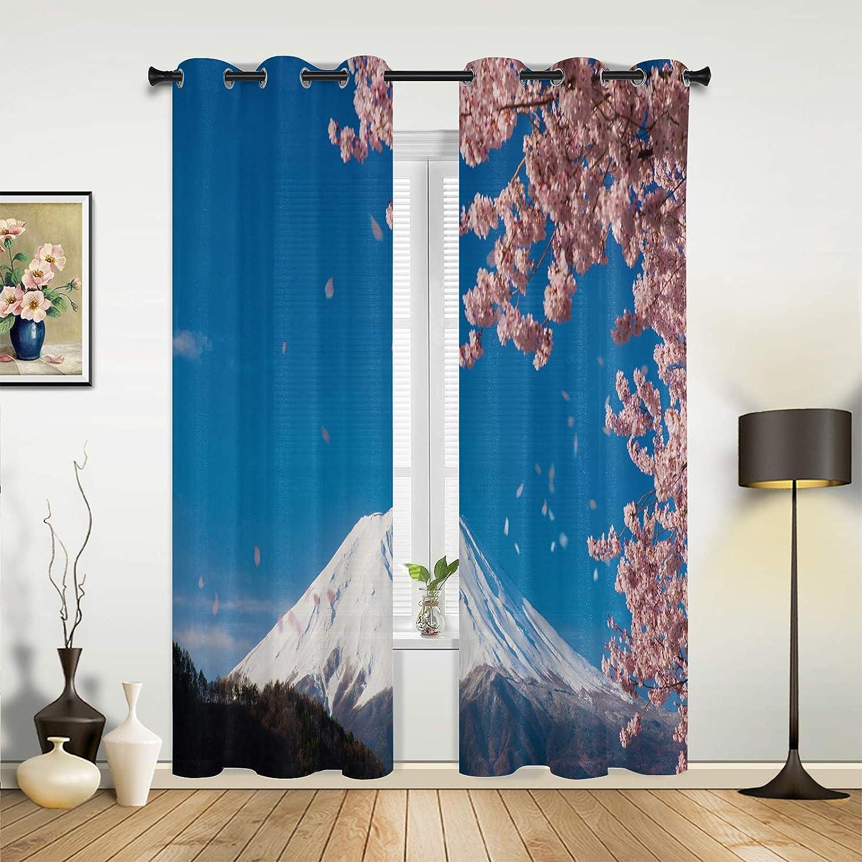 Window Curtains Max 42% OFF Drapes Panels Japan Cheap sale Fantasy C Fuji Pink Mountain