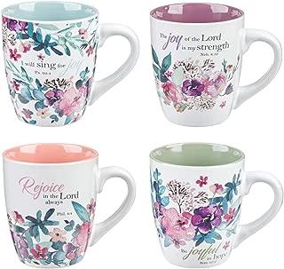 Rejoice Collection Set of 4 Coffee Mug Set