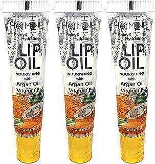 CRISPY BEAUTY HERMINE CLEAR LIP OIL GLOSS 3PCS (COCONUT)