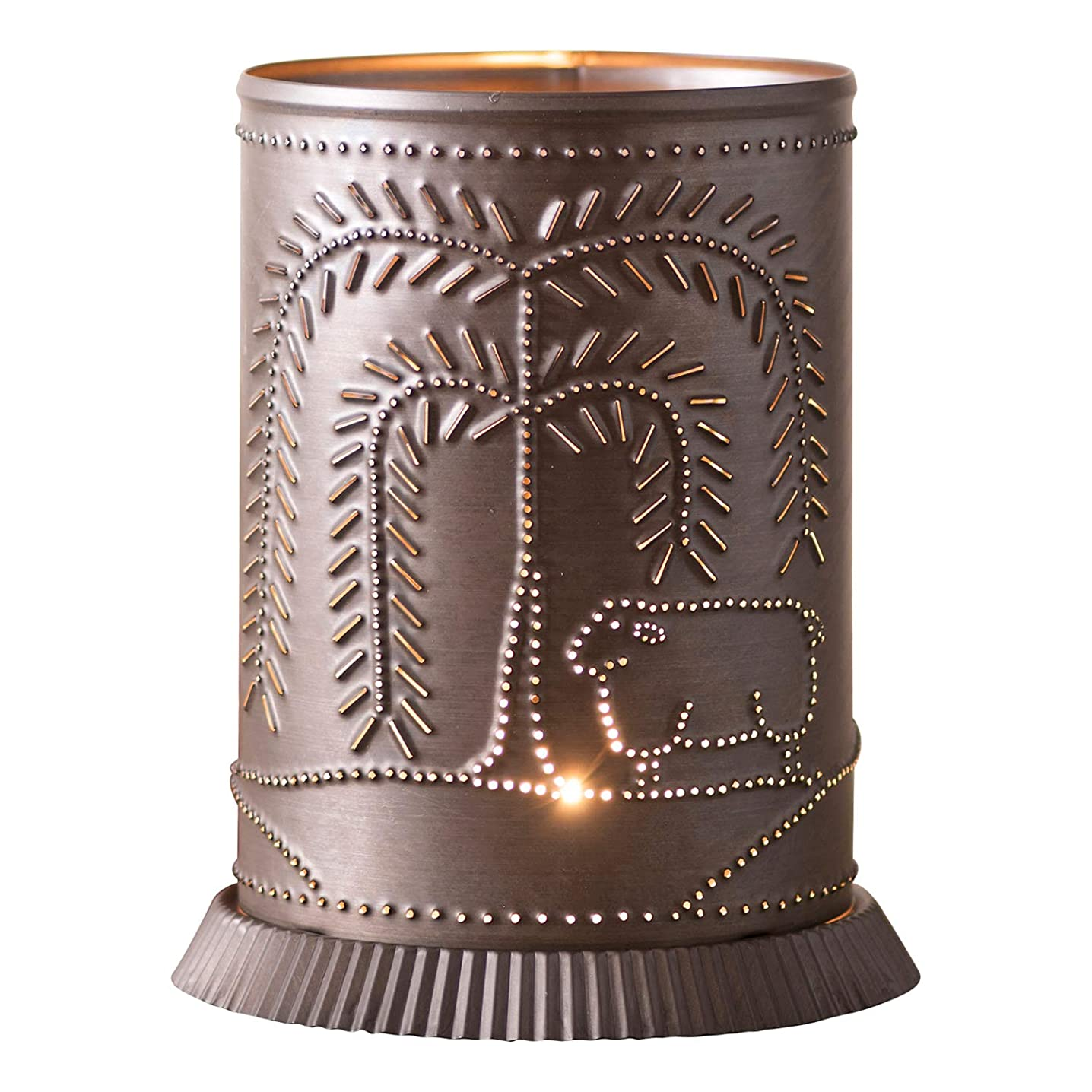 Candle Warmer with Willow & Sheep in Kettle Black