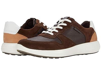 ECCO Soft 7 Runner Retro Sneaker (Coffee/Mocha/White/Cashmere) Men
