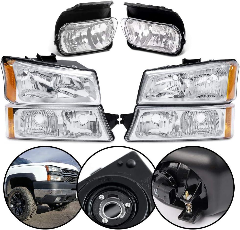4Pack Purchase Chrome Housing Headlight Lamp Set + Sale SALE% OFF Drivi Fog 2Pack Lights