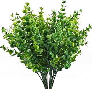 asika Artificial Greenery Plants Fake Realistic Eucalyptus Plant for Wedding, Garden, Indoor Outdoor, Office Verandah Decor- 5pcs 14