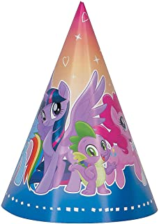 Fun Express - My Little Pony Party Hats, 8ct for Birthday - Party Supplies - Licensed Tableware - Misc Licensed Tableware - Birthday - 8 Pieces