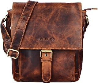 """STILORD Nevio"""" Herrentasche Leder Umhängetasche kleine Messenger Bag Elegante Handtasche im Vintage Design Schultertasche für 10.1 Zoll Tablet iPad echtes Leder"""