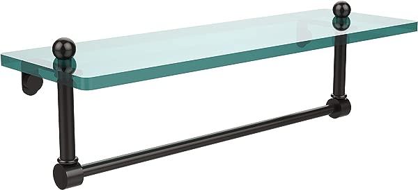 Allied Brass PR 1 16TB ORB 16 Inch Single Shelf With Towel Bar Oil Rubbed Bronze