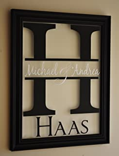MRC Wood Products Personalized Family Name Sign Picture Frame 13x16 The Mitford