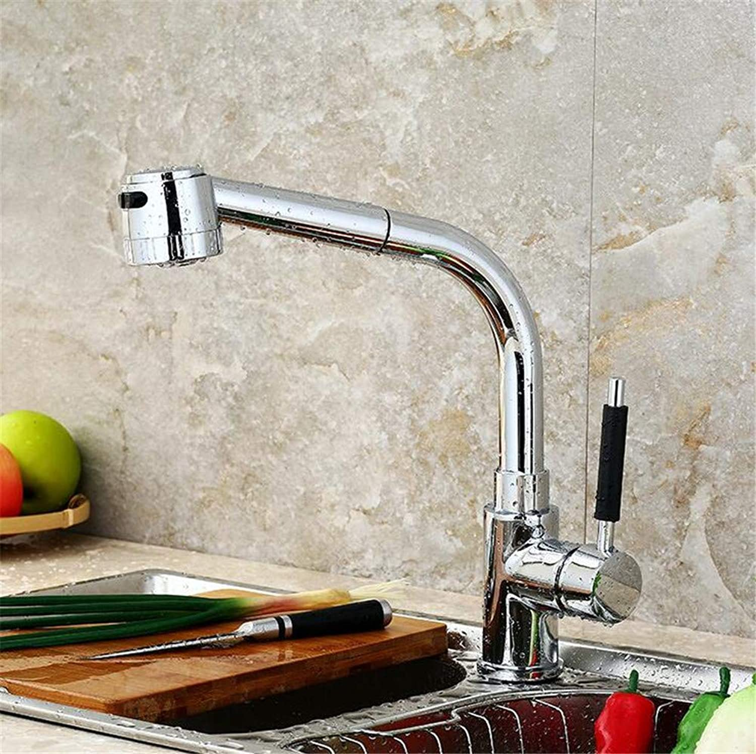 Oudan Vegetables Basin Kitchen Faucet Cold Sink Basin Mixer Faucet Full Copper Body redatably (color   -, Size   -)
