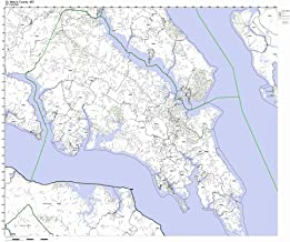 St Marys County, Maryland MD ZIP Code Map Not Laminated