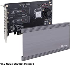 Syba I/O Crest SI-PEX40129 Dual M.2 NVMe Ports to PCIe 3.0 x16 Bifurcation Riser Controller - Support Non-Bifurcation Motherboard