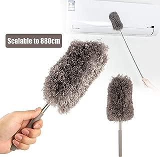 EEEKit Long Duster, Extension Ceiling Fan Brush Cobweb Remover Microfiber Head, 12