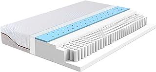 Alkove - Colchón de espuma con memory gel refrigerante de 7 zonas con muelles ensacados individualmente, 90 x 190 x 25 cm