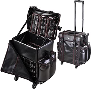 AW Black Soft-sided Rolling Makeup Case 17x14x22