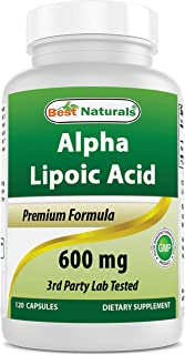 Best Naturals Alpha Liopic Acid 600 mg 120 Count - ALA Alpha Lipoic Acid Powerful Antioxidant