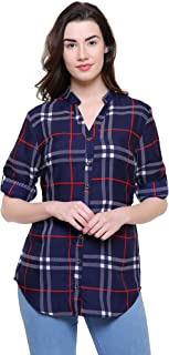 2Day Women's Polyester (Crepe) TOP (Pack of 1) Navy Blue