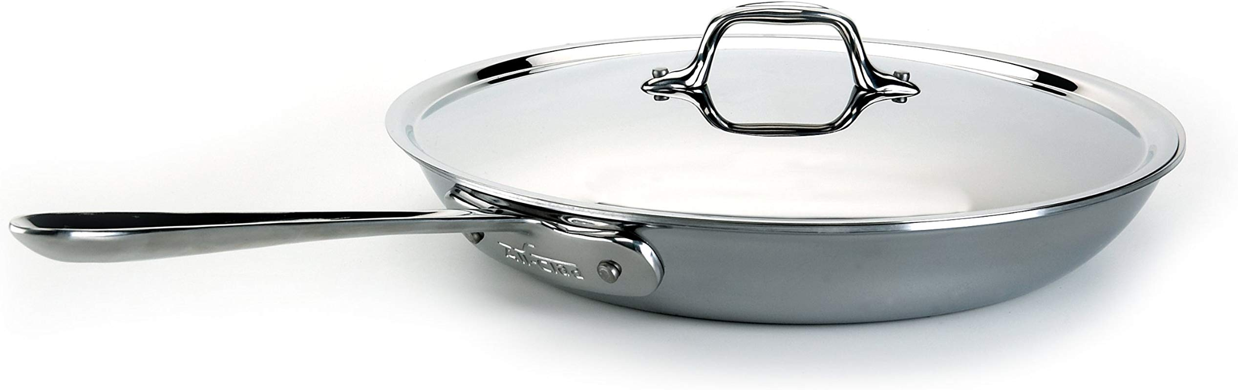 All Clad 51125 All Clad Stainless Steel 12 Inch Fry Pan With Lid