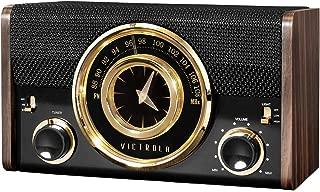 Victrola Mid-Century Modern Bluetooth Clock Speaker in Espresso