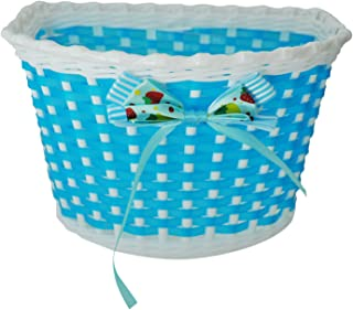JVSISM Bike Flowery Front Basket Bicycle Cycle Shopping Stabilizers Children Kids Girls